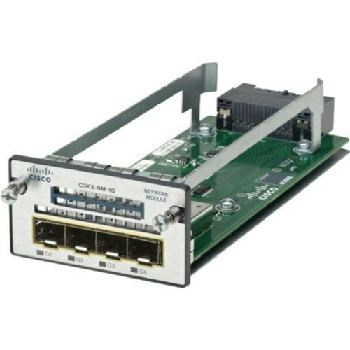Cisco C3KX-NM-1G Network Module 4x1Gb Ports Catalyst 3750X/3560X Series Switches